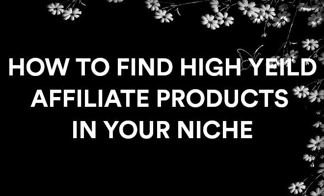 how to find affiliate products in your niche