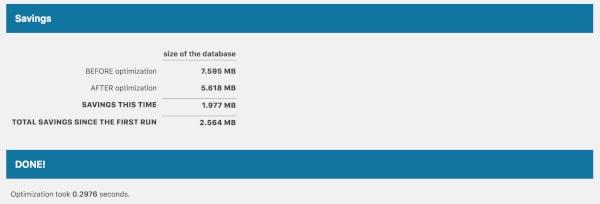 optimise database delete revisions plugin