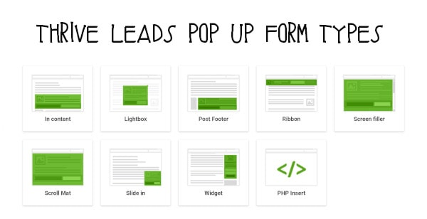 thrive leads pop up form examples