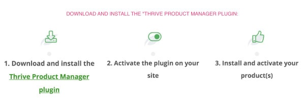 install prduct manager plugin for thrive architect