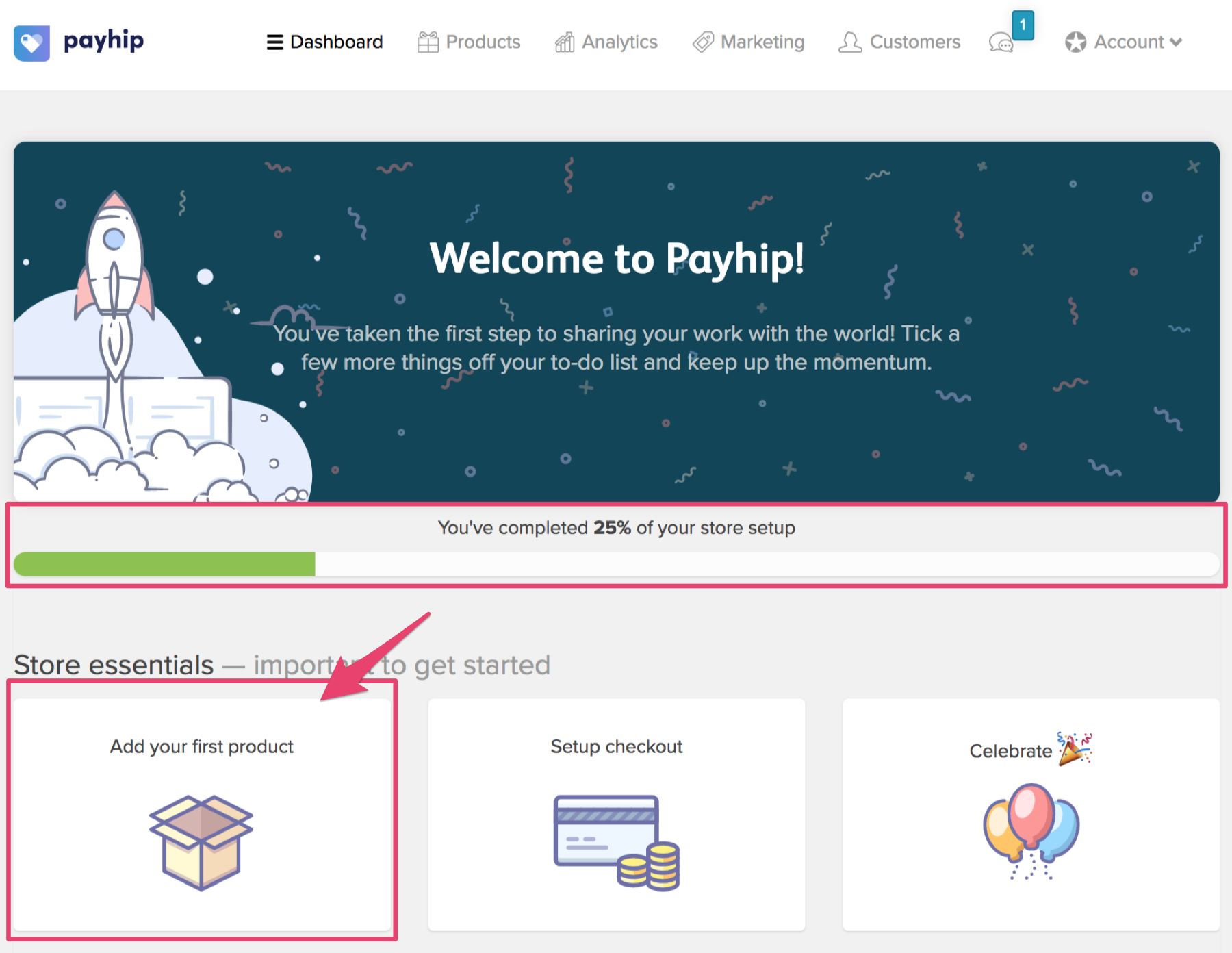 how to create a new product in payhip