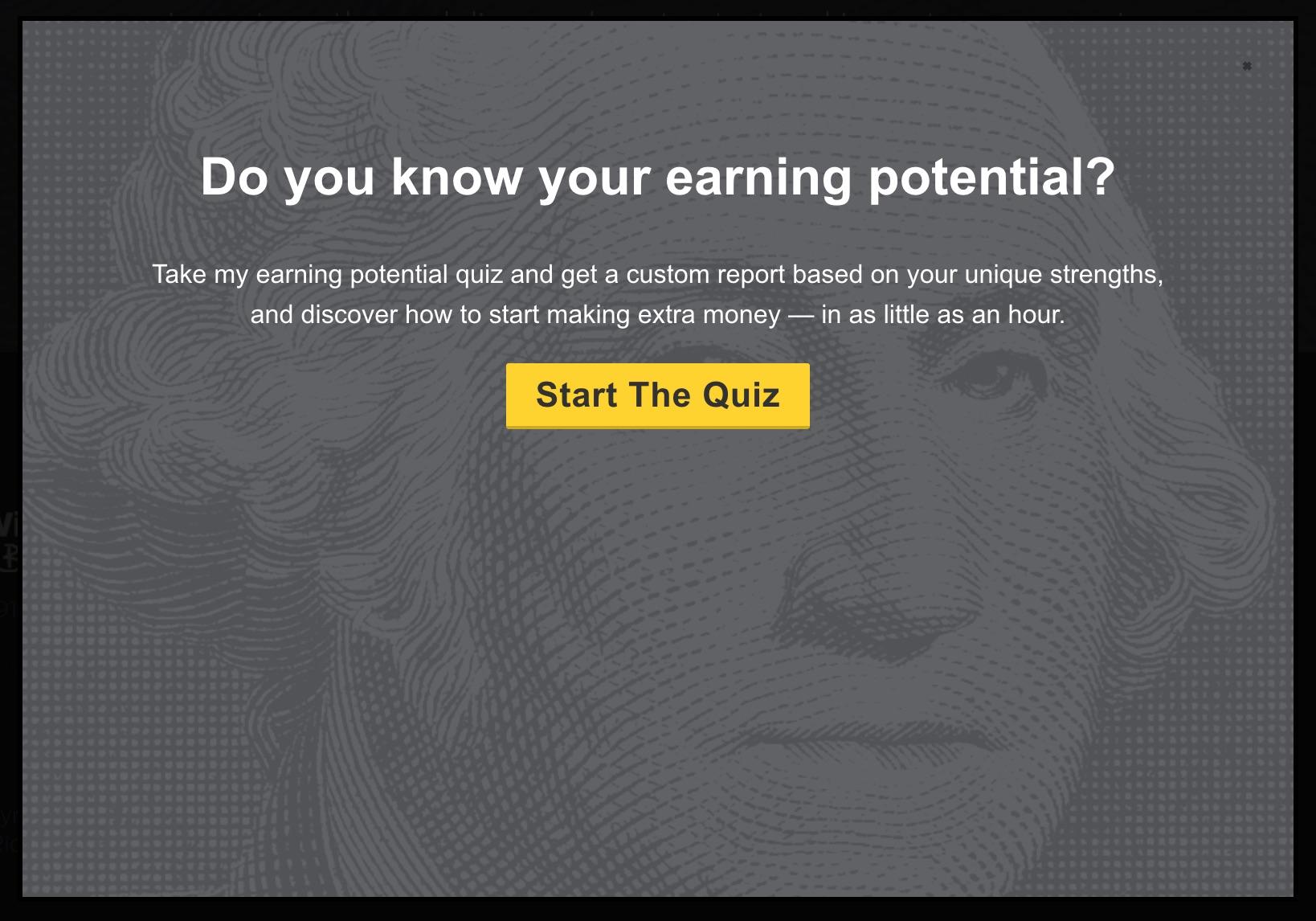 Quiz pop up
