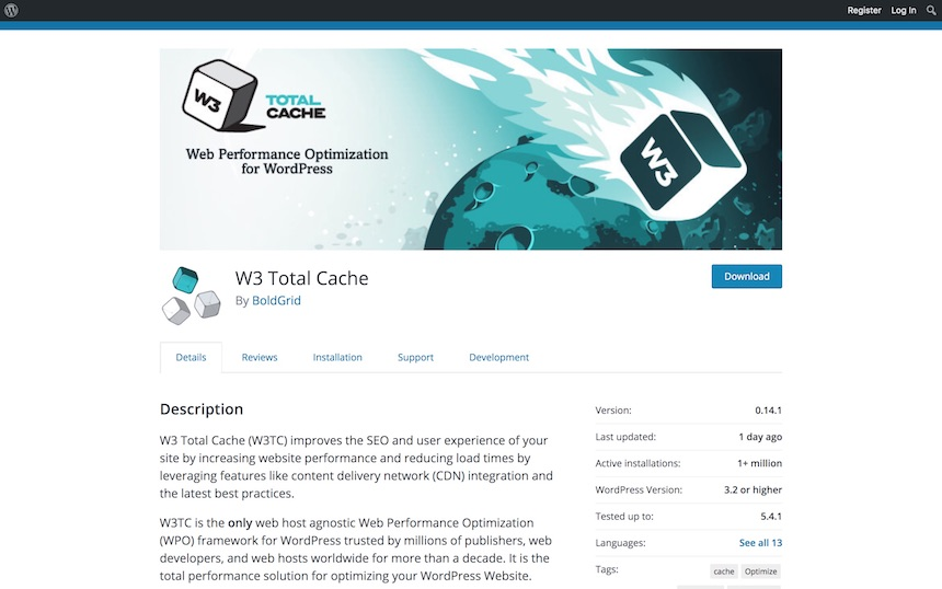 WP Total Cache